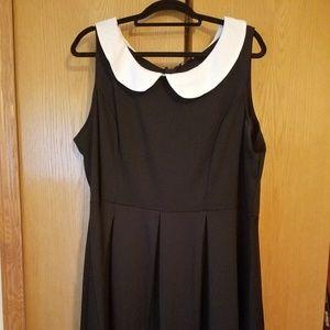 Modcloth Wednesday Adams Dress 3X Peter Pan Collar